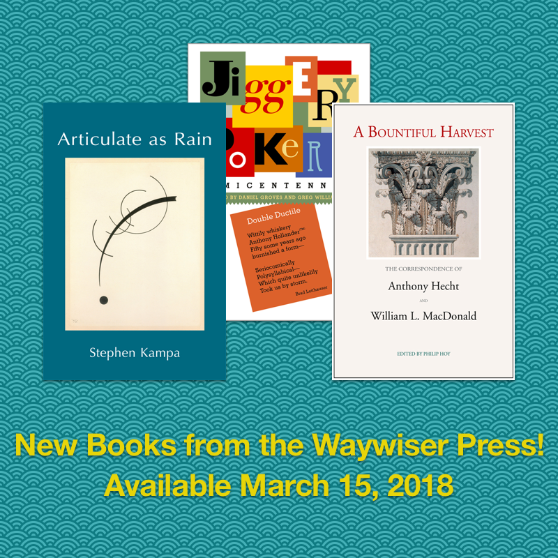 Social images for book launch announcements, Waywiser Press (2016-2018)