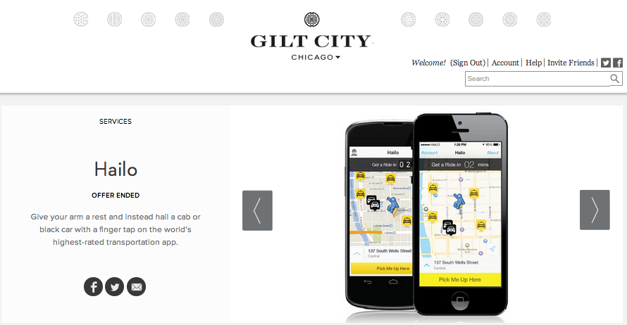 Images for multi-city promotion on Gilt City