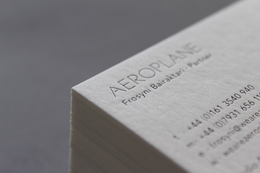 Business card design with black foil deboss