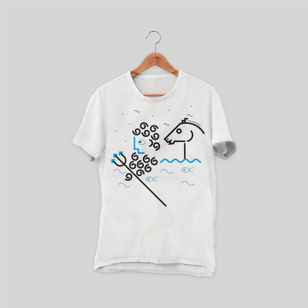 Athena and Poseidon T-shirt