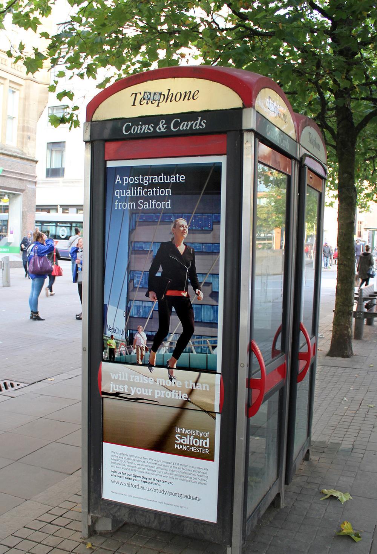 Advertising phone box