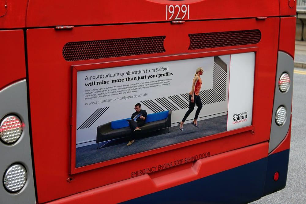Advertising bus
