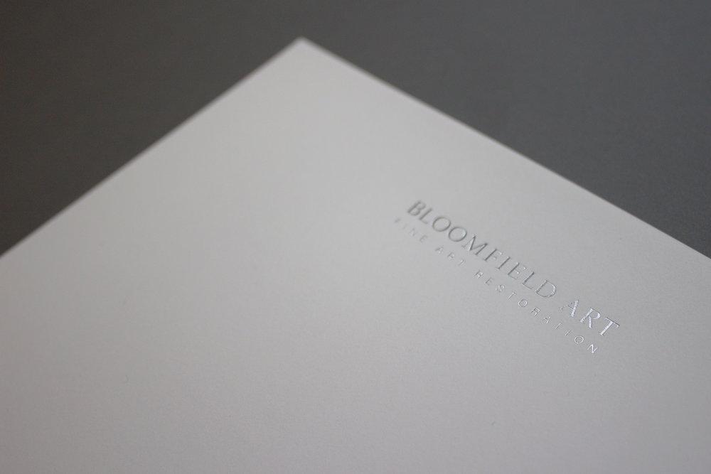 Letterhead - silver foil logotype