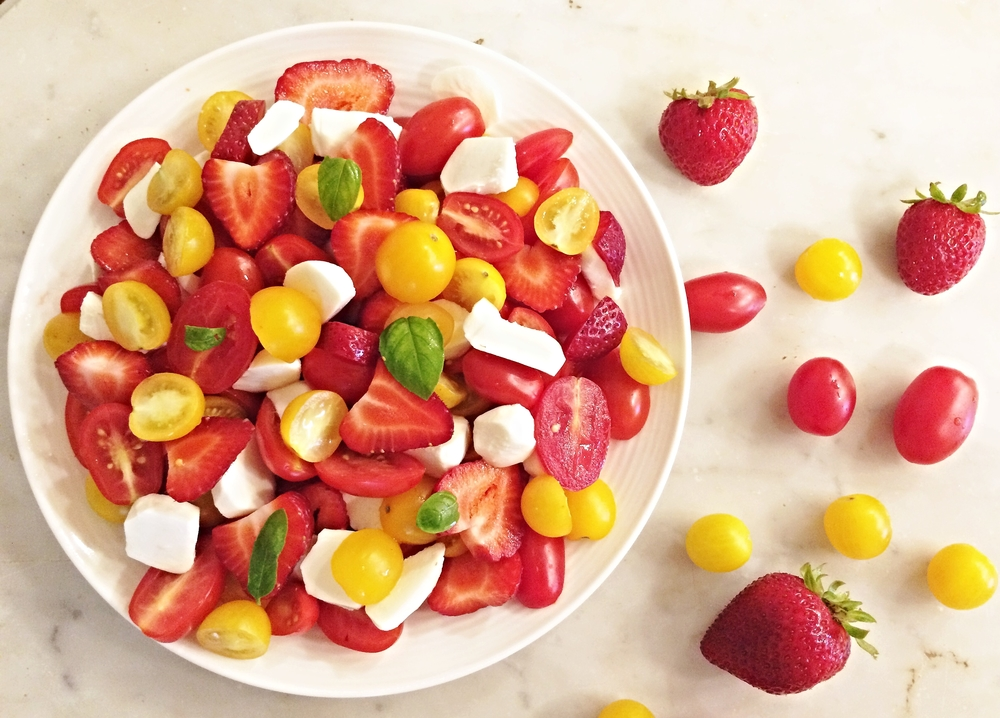 Tomato, Strawberry & Mozzarella Salad