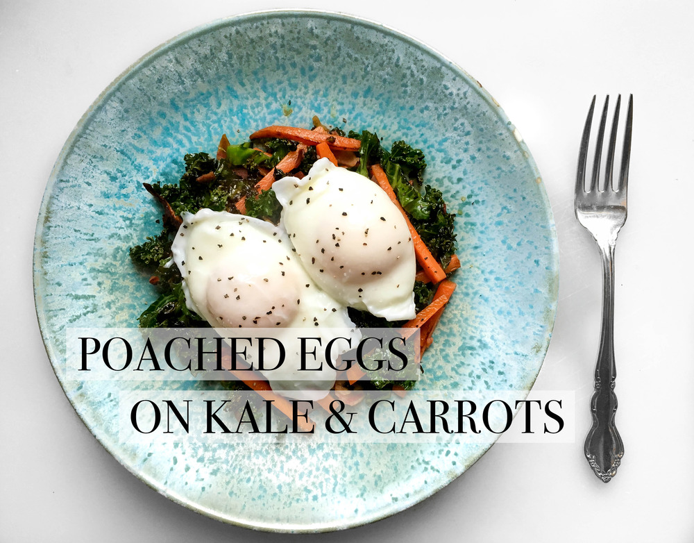Poached Eggs Kale Carrots
