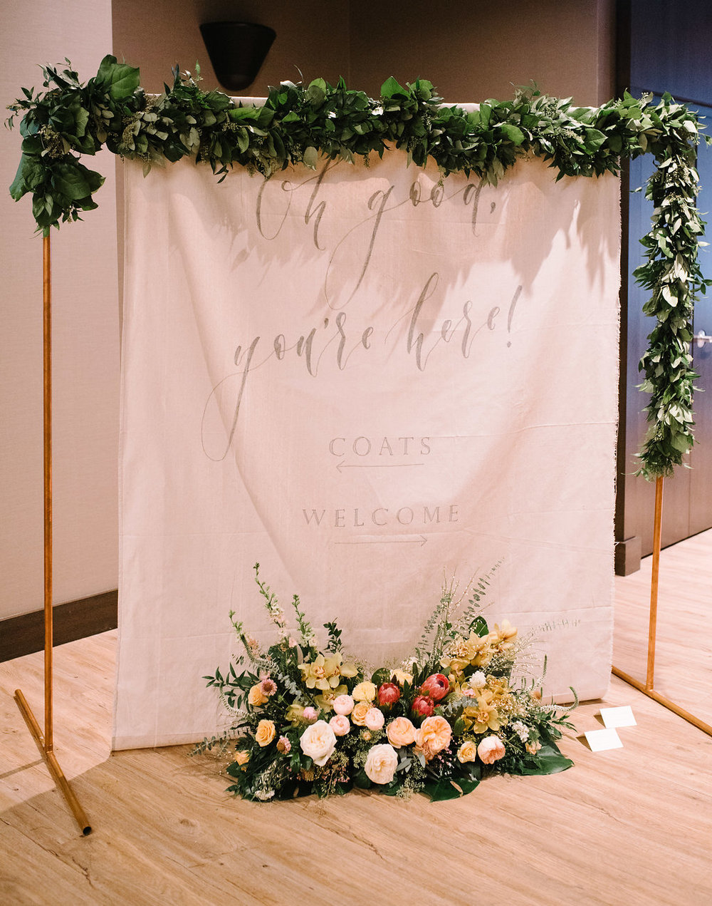 Photography by: Sarah Vaughan / Flowers by: Flowers by Janie / Signage by: Art + Alexander