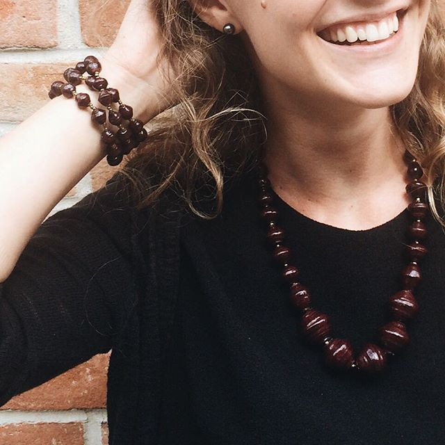 Look for the little reasons to smile every day and your life will surely be filled with joy.  New jewelry arrived from Uganda this weekend and we are loving the holiday colors! Plum and Indigo beads coming to the shop very soon! #emberarts #empoweringdreamers