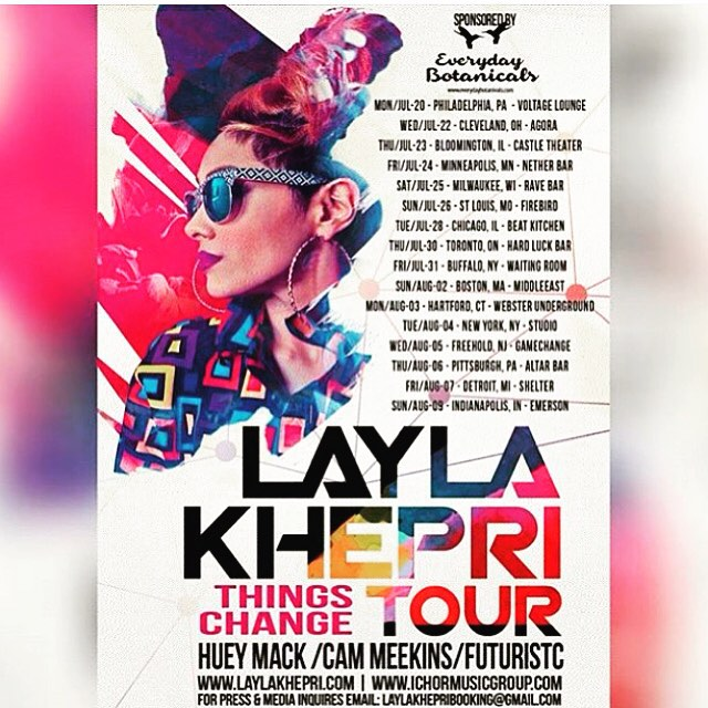 @laylakhepri will start on tour tonight first stop #voltagelounge in #philly if you in philly come out and support the #thingschangetour #img #ichormusicgroup