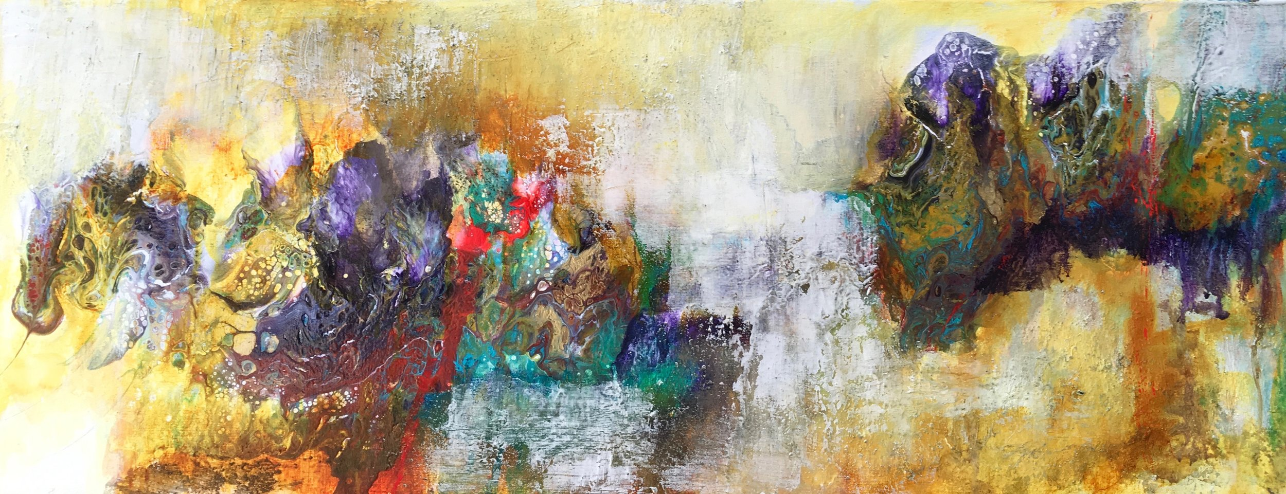 Chasing Abstraction >> Rebel Artlyrical Abstraction On Canvas Rebecca Van Wierstrebel Art
