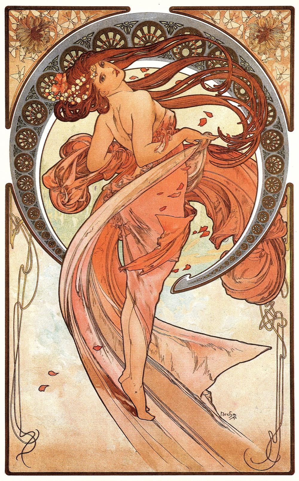 Concept art by Alphonse Mucha.