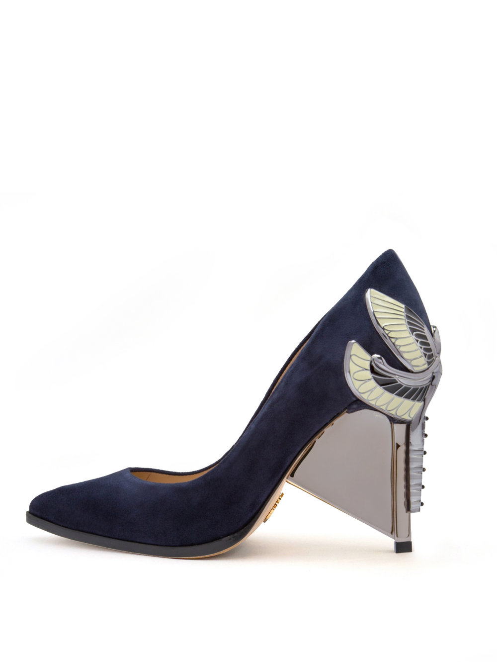 AURORA PUMP - NAVY KID SUEDE