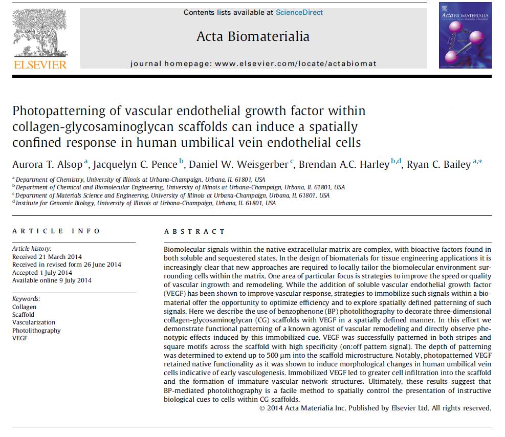 Alsop, A.T., et. al.Acta Biomaterialia, 2014