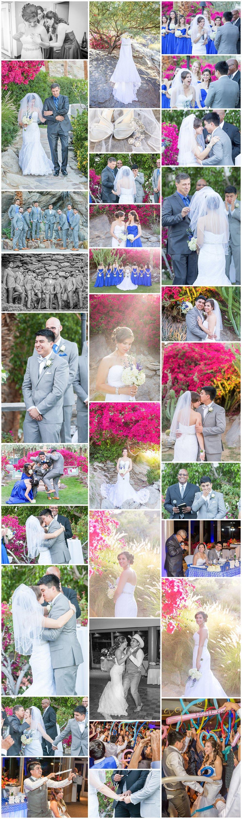 Palm Springs Spencers Restaurant Wedding Photos