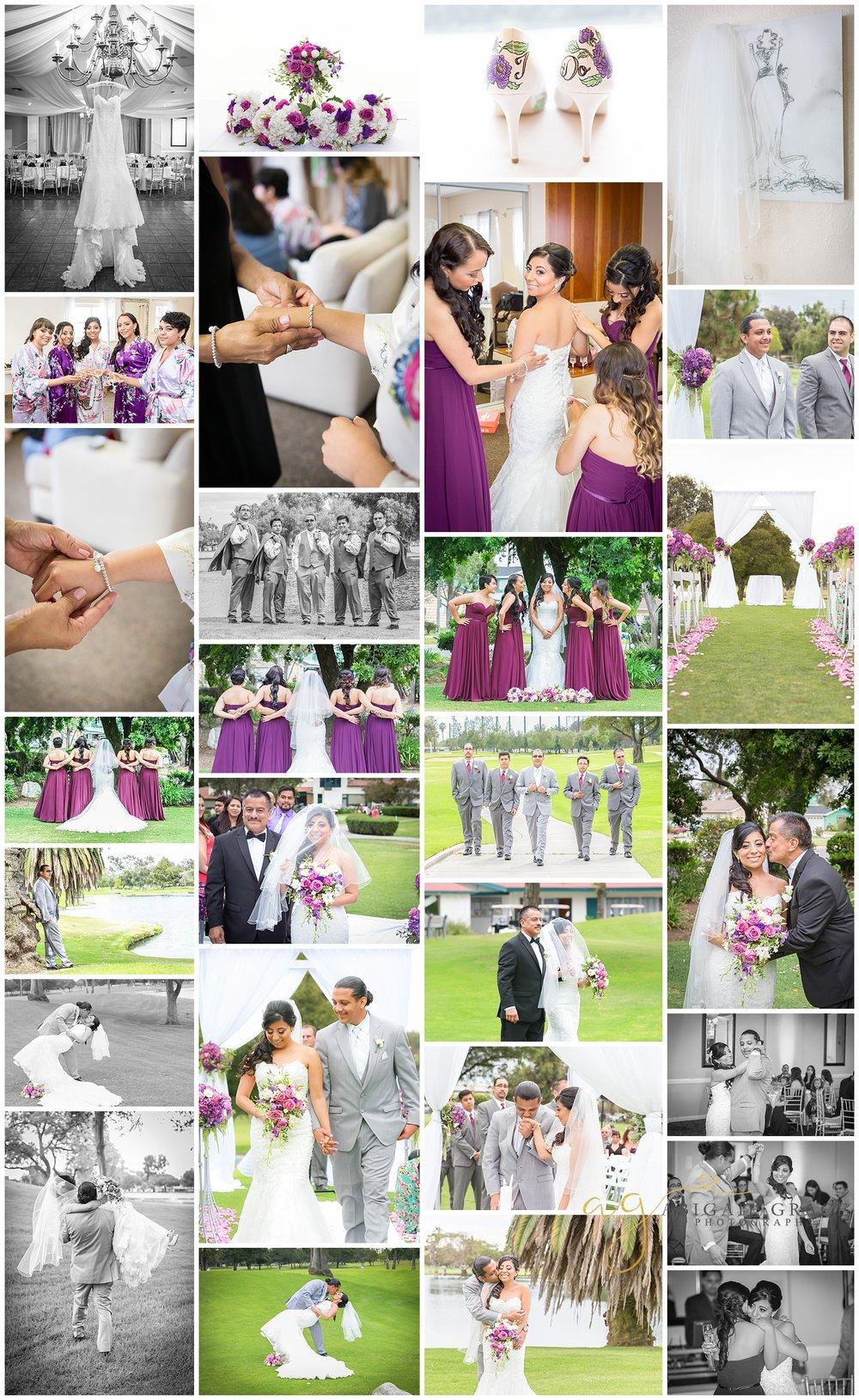country club wedding photos