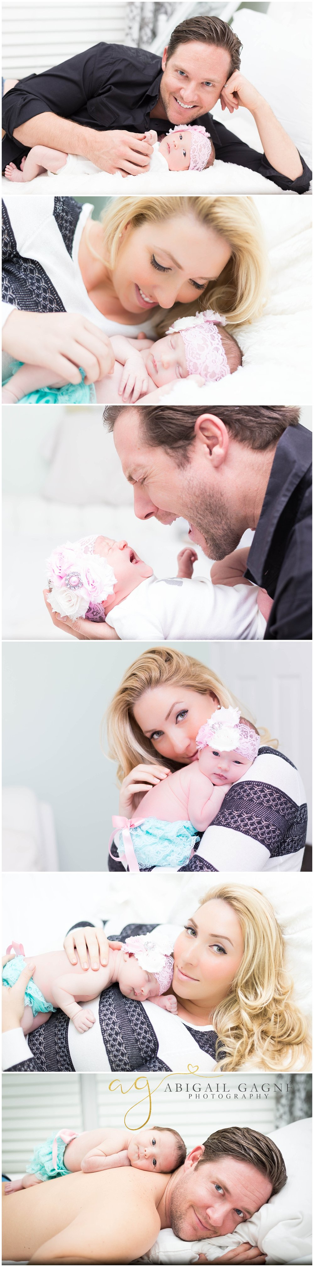 In Home Family Newborn Photos