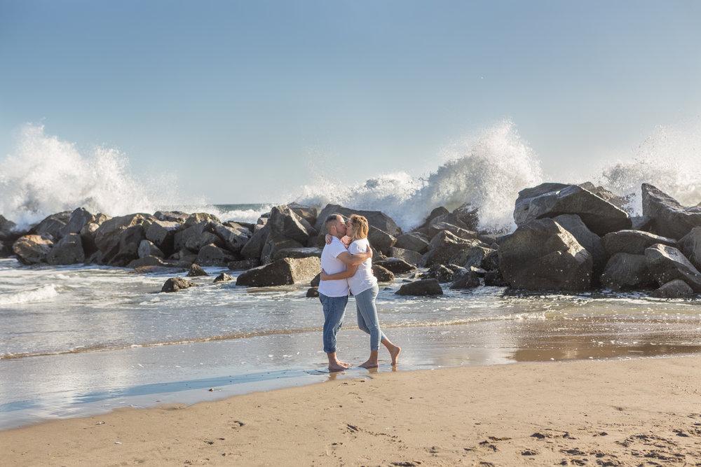water break cliffs beach photo