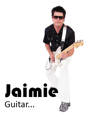 Jaimie's uncle is in the Australian rock and roll hall of fame.  As a result of spending time listening to him play guitar, from a young age, Jaimie wanted to be involved in the music industry.  With the help of his uncle, he began playing guitar at the age of 13 and hasn't stopped playing since.  Although involved in a number of cover bands at various times throughout his life, most of his experience has been with Fizzy Pop, both the original Canberra based version as well as the one now based in Adelaide.