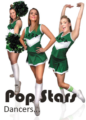 Carla, Frances, Kirra and Courtney are our Pop Stars!  Performing energetic choreography, they make the show.  You'll want to get up out of your seat and dance with them.