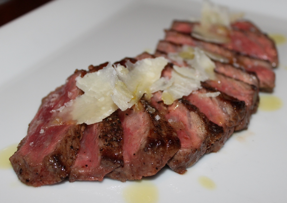 Snake River Farms' wagyu strip loin.
