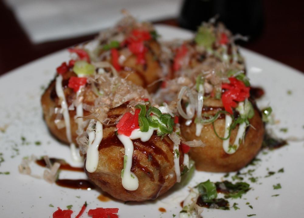 Takoyaki (octopus fritters)