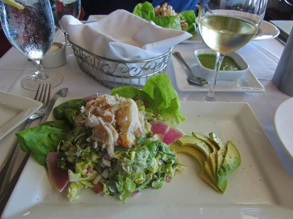 Chablis + Crab Louis with Oregon Dungeness crabmeat.