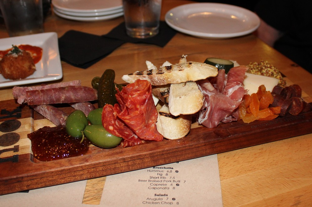 Had to take a picture as this passed us by: charcuterie board
