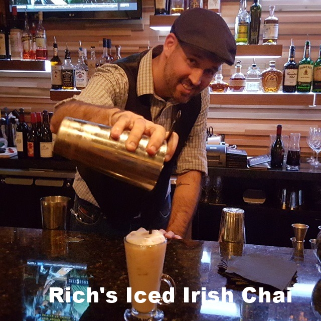 Rich Heider and his Iced Irish Chai