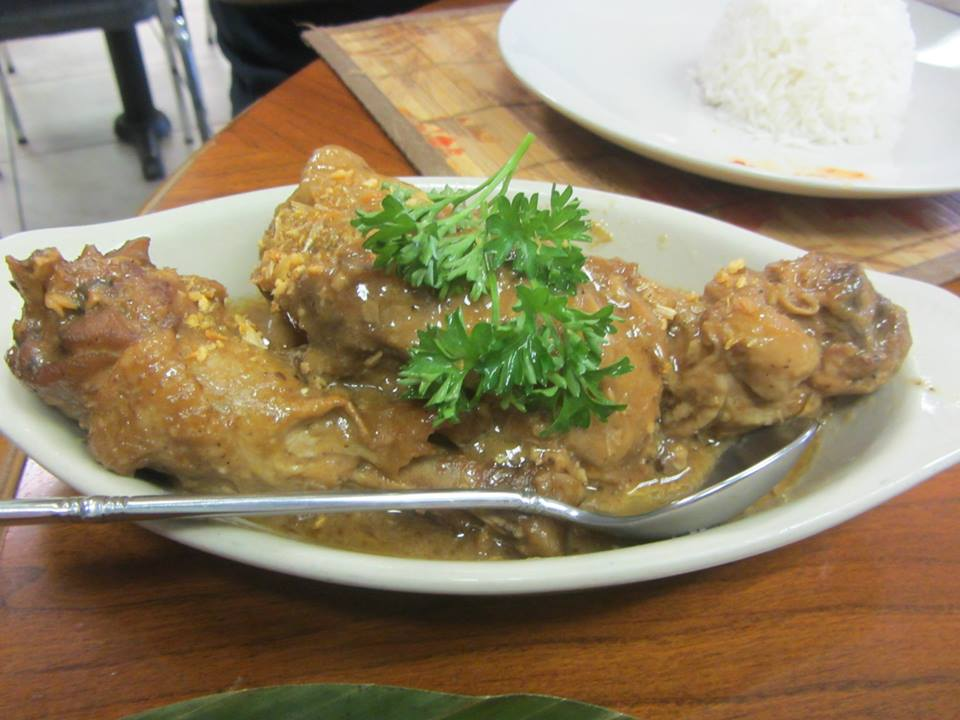 Chicken adobo - braised with vinegar, garlic and soy sauce