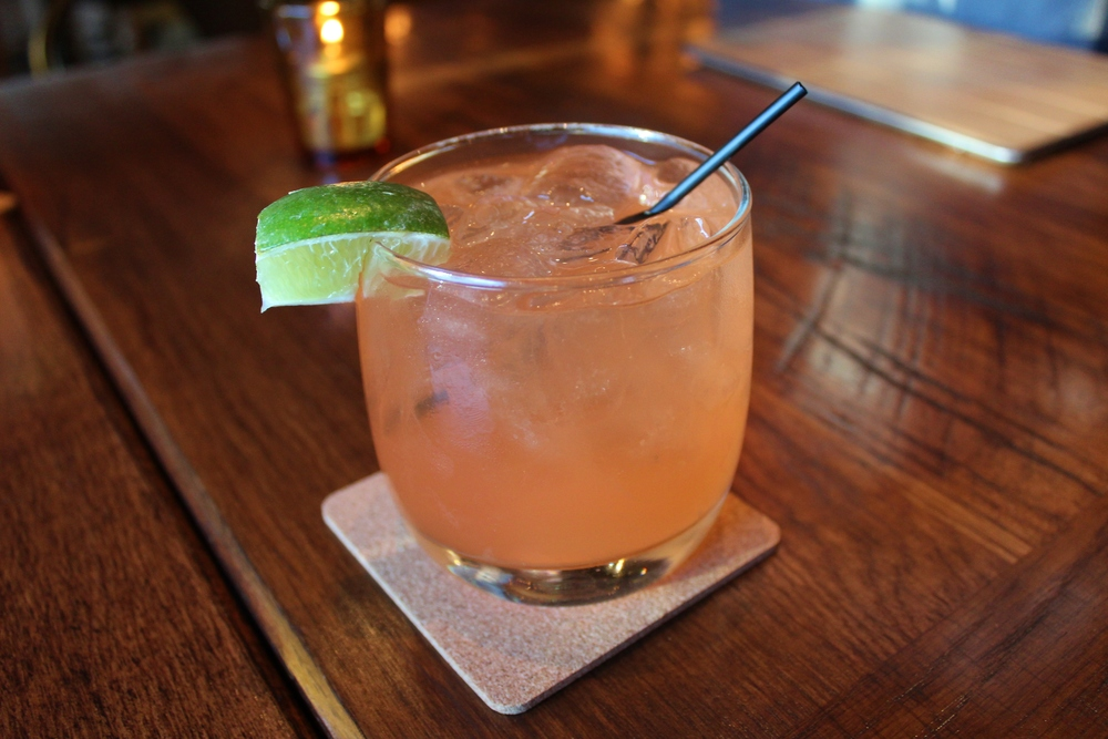 The Revival (Casamigos tequila, Aperol, grapefruit juice, and ginger beer)