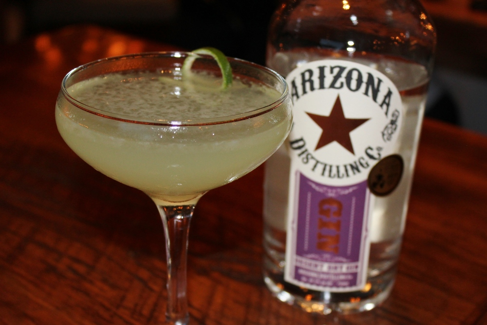 Last Word (Arizona Distilling Co. Desert Dry Gin, Luxardo Maraschino Liqueur, Green Chartreuse & lime),