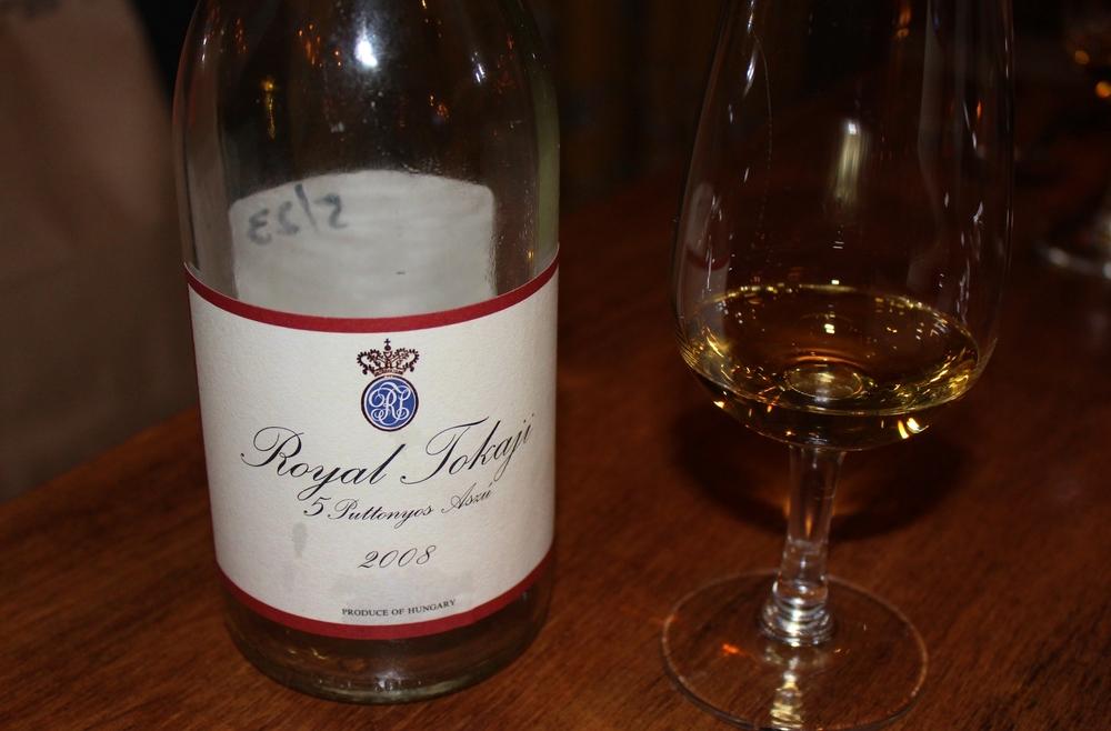 Dessert wine pairing - Royal Tokaji 5 Puttontyos