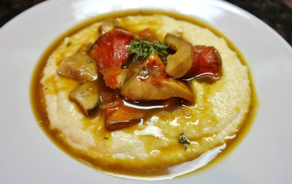 Creamy polenta with Arizona mushrooms