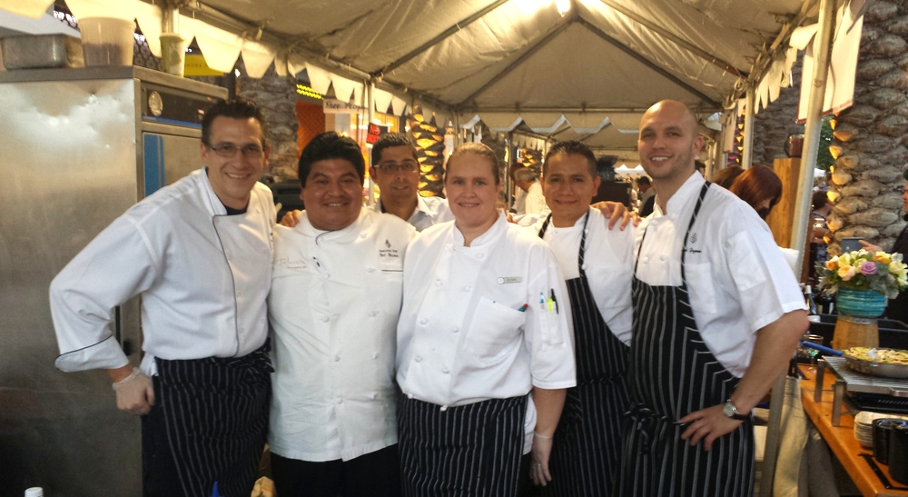 Chef Mecinas and the Four Seasons crew