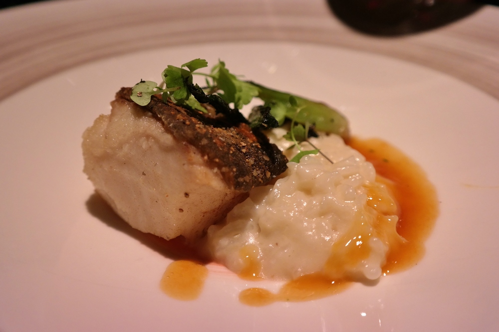 Black cod with coconut risotto