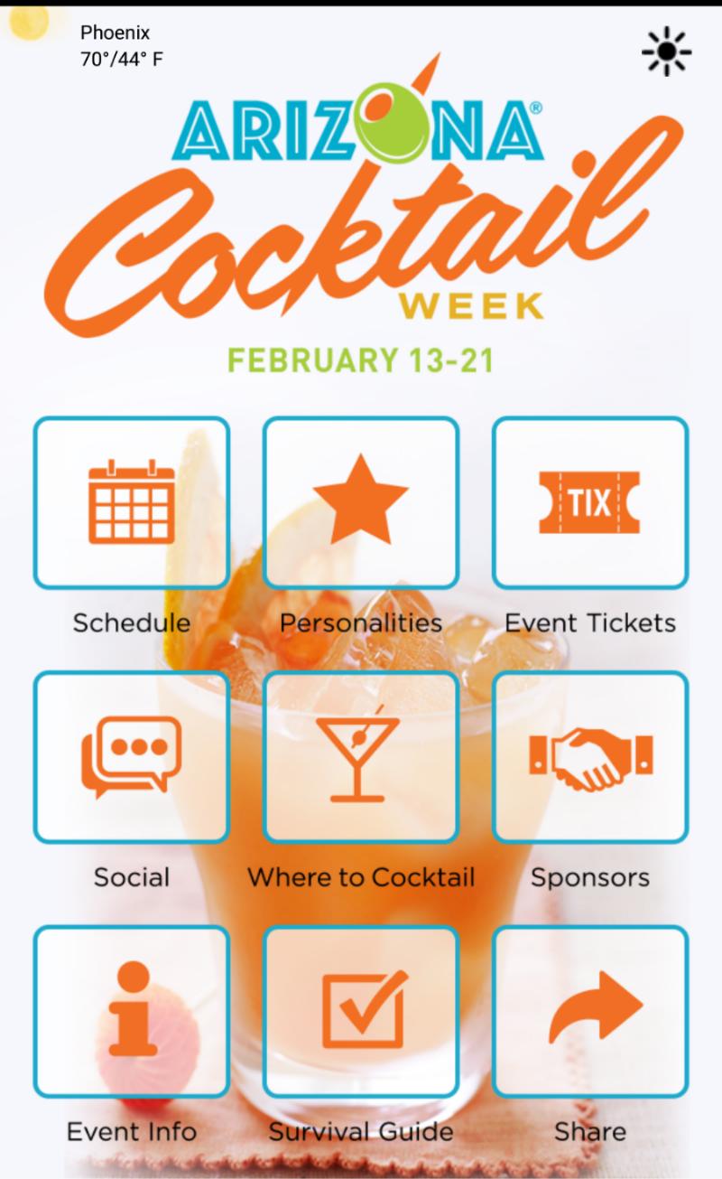 Arizona Cocktail Week app