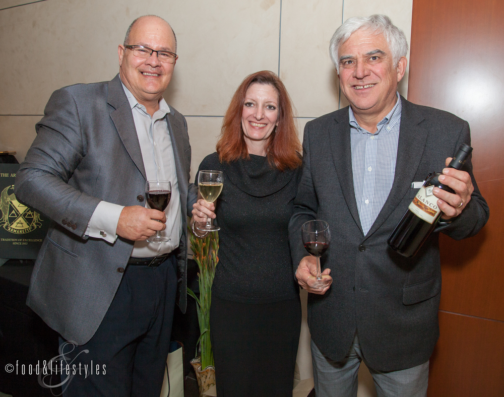Frank and Donna Armanetti of the Armanetti Group with Corrado Battai of Tenuta Le Velette