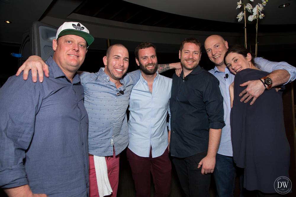 Executive Chef Beau MacMillan, Jason Asher, Tyson Buhler, Micah Olson, Kyle Mason, and Jillian Vose (photos by Debby Wolvos Photography)