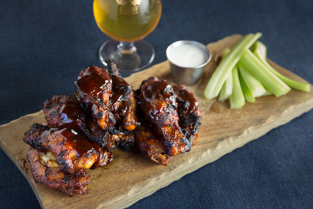 Smoked BBQ Wings at Hogs N' Hops BBQ (Debby Wolvos)