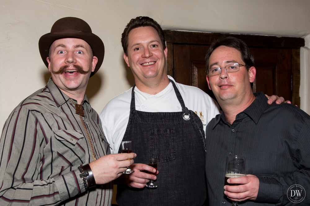 "Travis Nass, Caskwerk's ""Spirit Guide"", Executive Chef Jeremy Pacheco, and Zach Schroeder, brewmaster and co-owner of Sonoran Brewing Company (photos by Debby Wolvos Photography)"