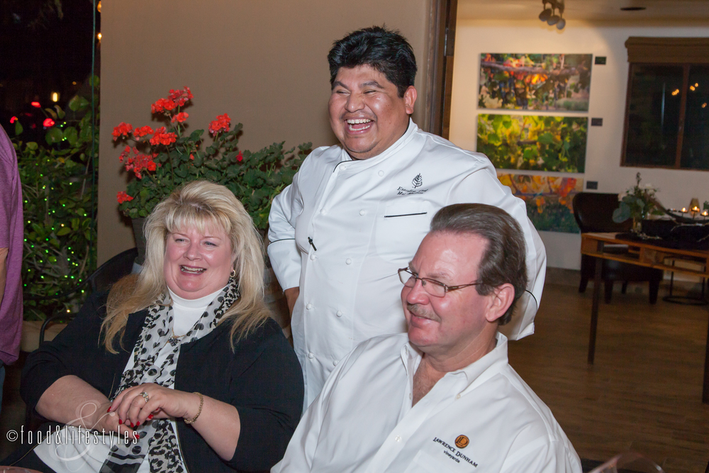 Chef Mel of the Four Seasons and Peggy and Curt of LDV Winery
