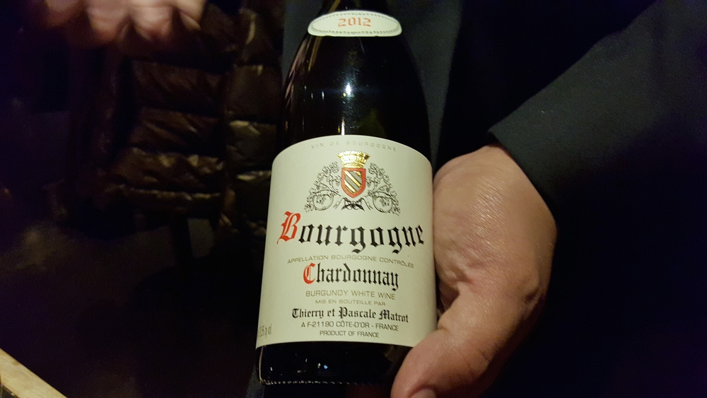 Thierry & Pascale Matrot Bourgogne Blanc with guinea hen
