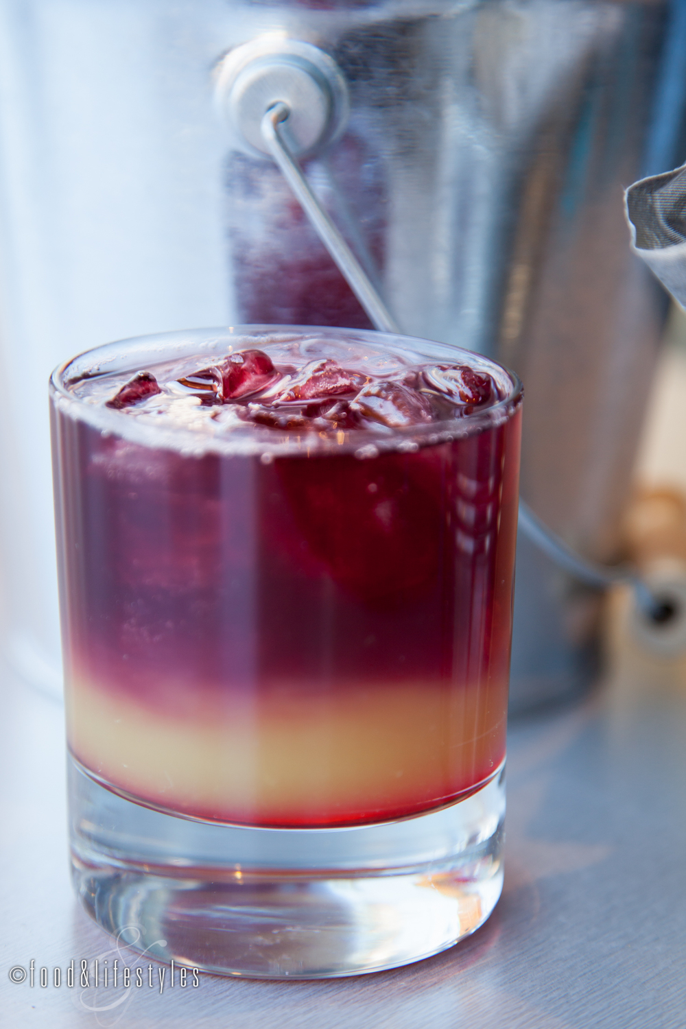 Layered Sangria Red