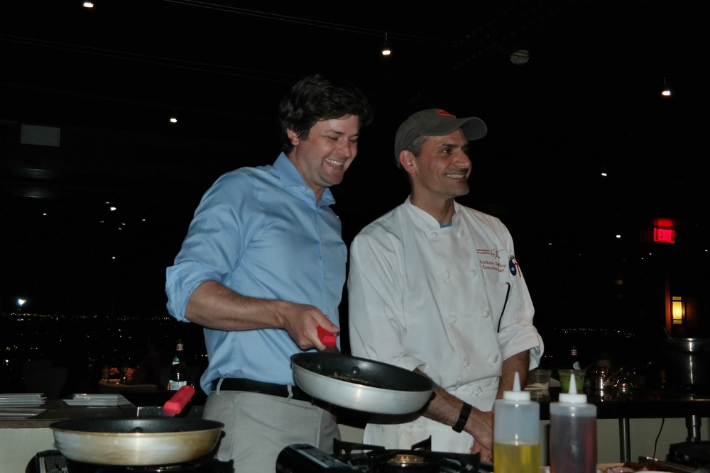 Winemaker Steve Nelson and Chef DeMuro