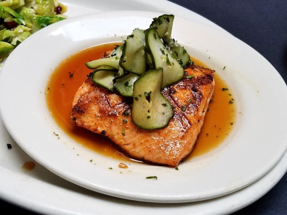 Citrus-soy glazed salmon