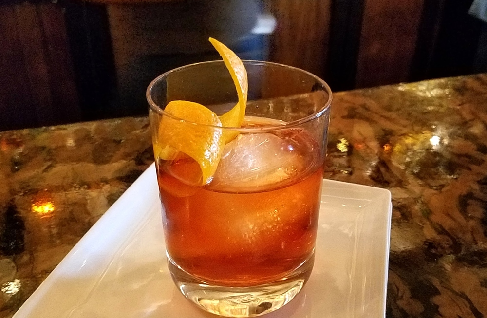 Tyler's off-menu Boulevardier with St. George NOLA coffee liqueur