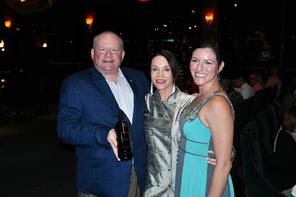 Master Sommelier Joseph Spellman, Executive Chef and owner Lisa Dahl, and Margaret McGuire with Justin Vineyards