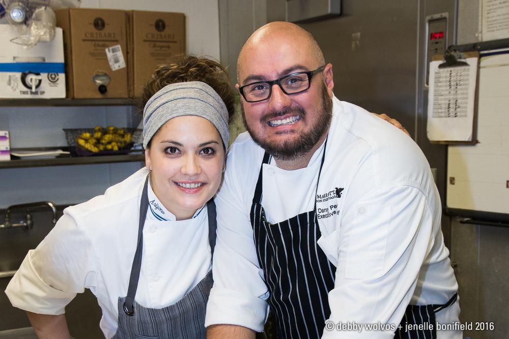 Chefs Maria Mazon and Danny Perez