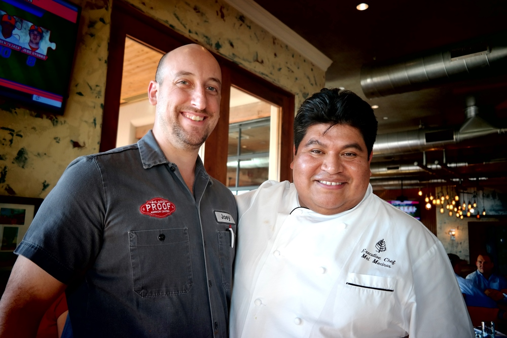 Chef Joey Cavaretta of Proof and Executive Chef Mel Mecinas of the Four Seasons