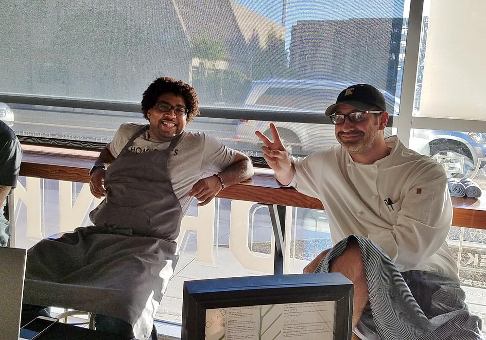 Chefs Stephen Johnson and Bernie Kantak