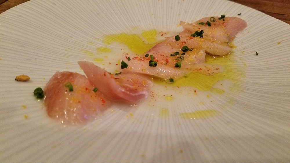 Yellowtail crudo with bottarga